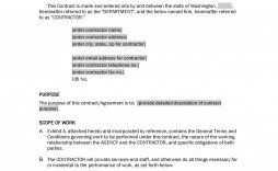005 Beautiful Service Contract Template Word Example  Agreement Format In Microsoft