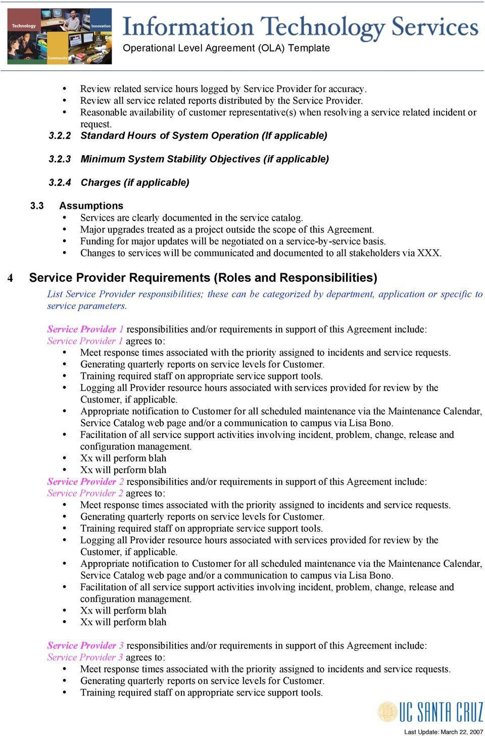005 Beautiful Service Level Agreement Template High Def  South Africa Nz For Website DevelopmentFull