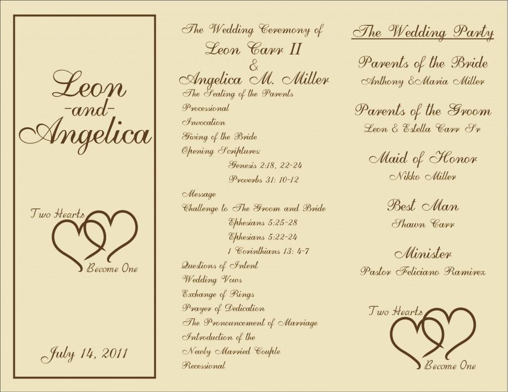 005 Beautiful Template For Wedding Program Idea  Word Free CatholicLarge