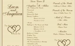 005 Beautiful Template For Wedding Program Idea  Word Free Catholic