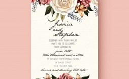 005 Beautiful Wedding Invitation Template Free Example  Card Psd For Word Muslim 2007