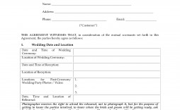 005 Beautiful Wedding Videographer Contract Template Example  Videography Pdf