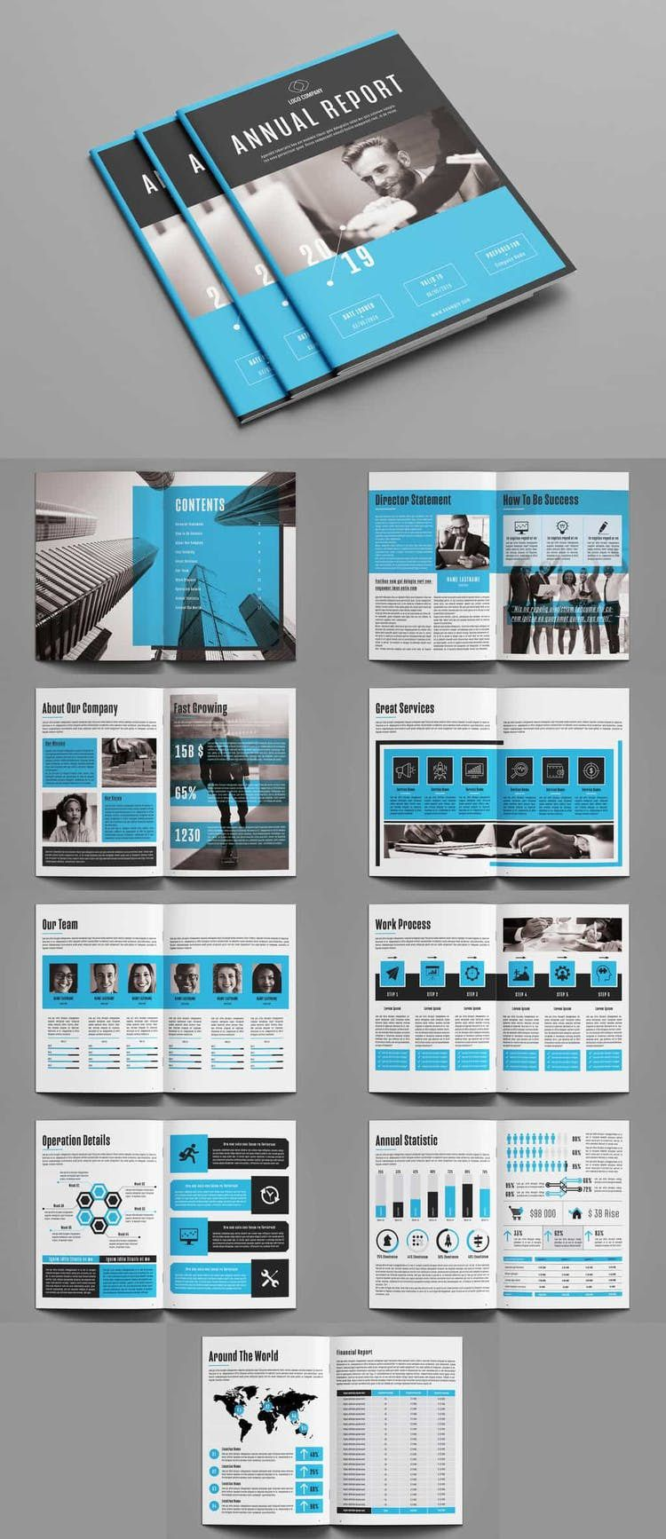005 Best Annual Report Design Template Indesign Concept  Free DownloadFull