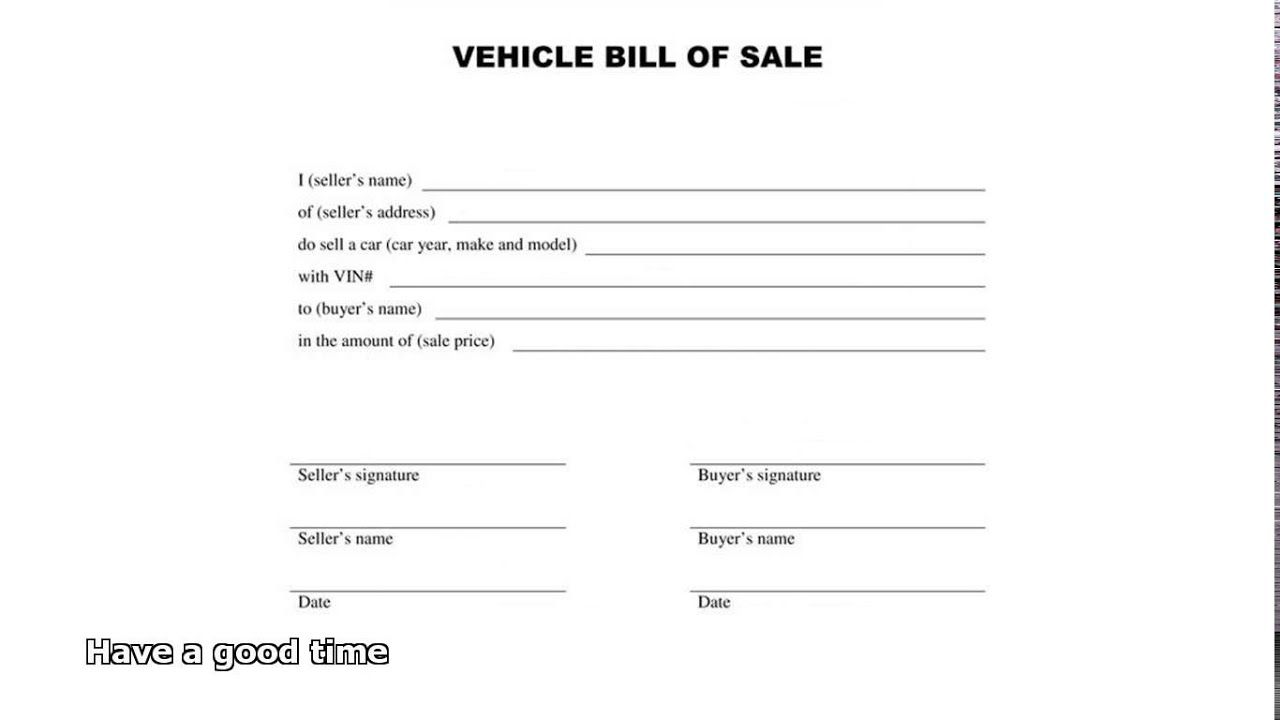 005 Best Automobile Bill Of Sale Template Design  Word Vehicle Fillable Pdf Texa With NotaryFull
