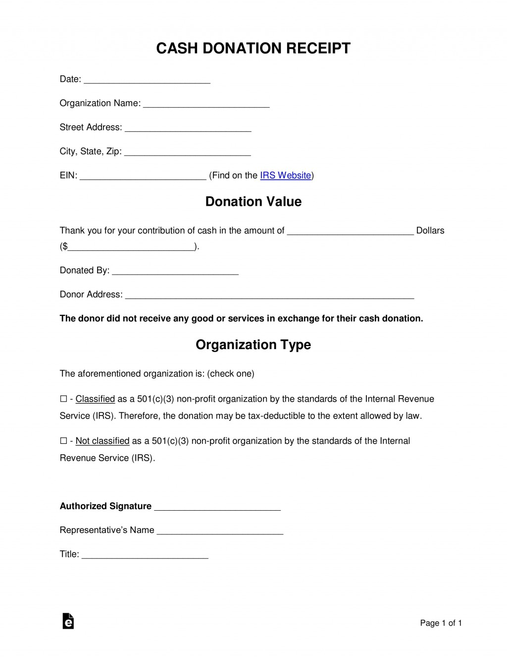 005 Best Donation Receipt Template Word Concept  Free Microsoft CharitableLarge