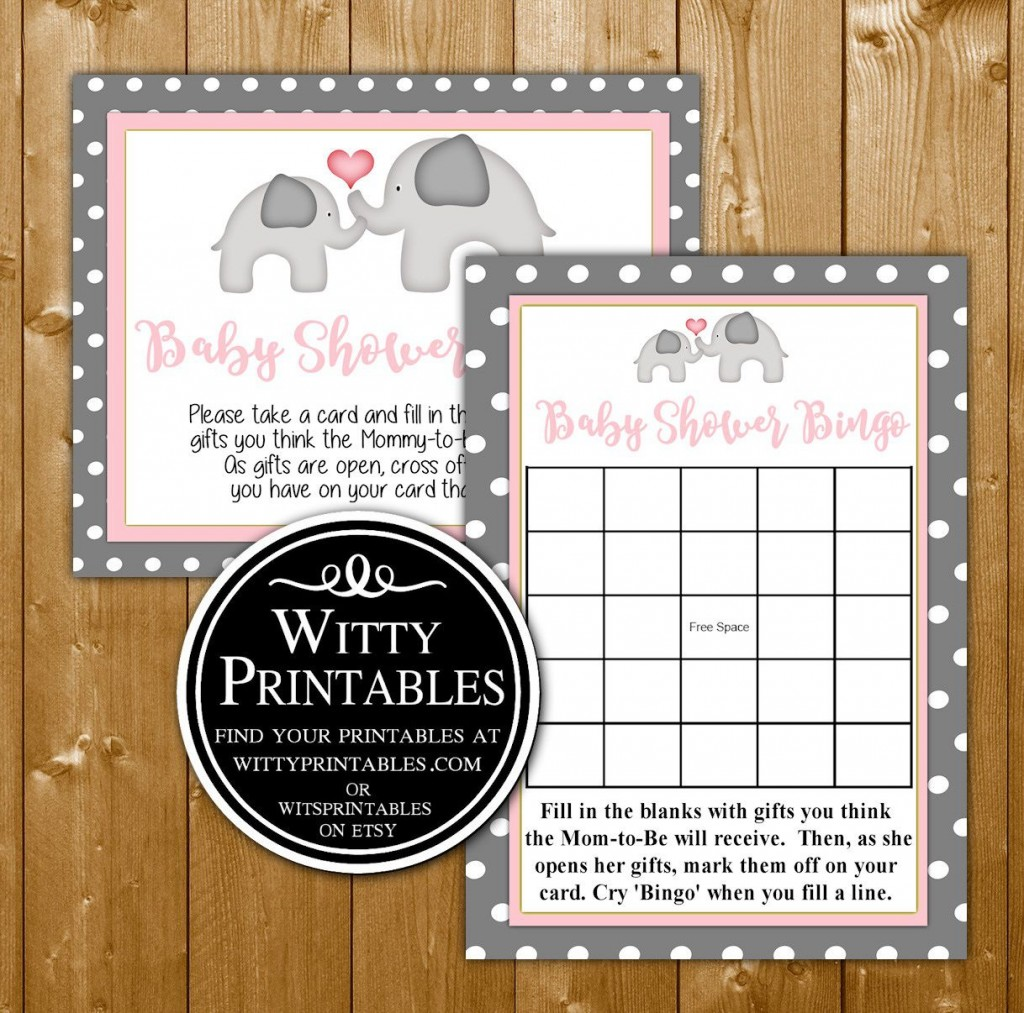 005 Best Free Girl Elephant Baby Shower Printable Photo  PrintablesLarge