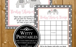 005 Best Free Girl Elephant Baby Shower Printable Photo  Printables