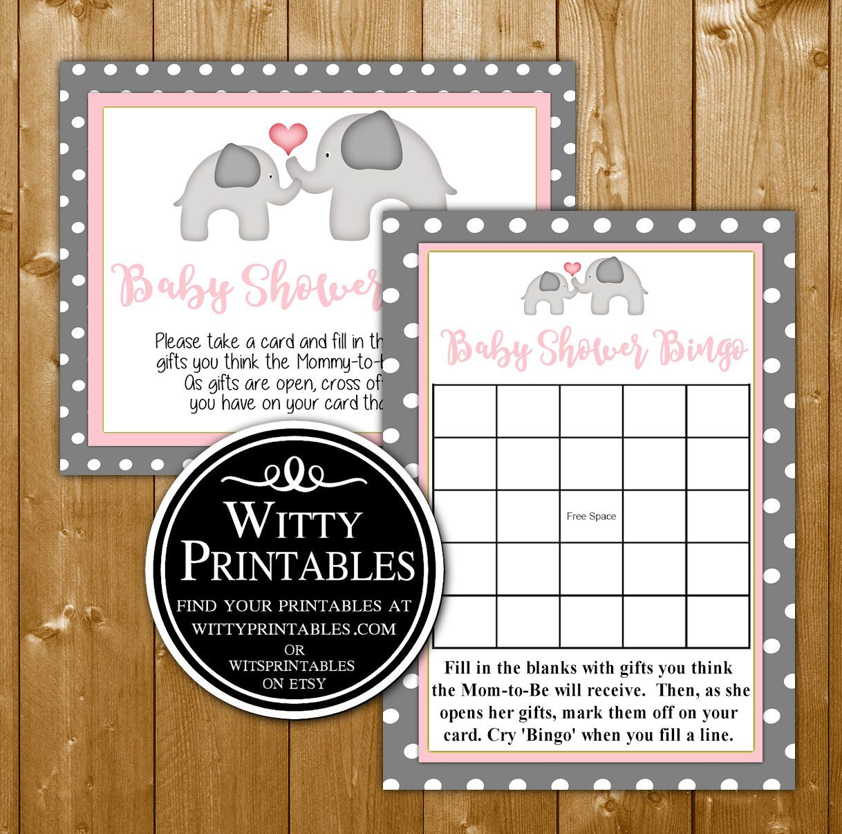 005 Best Free Girl Elephant Baby Shower Printable Photo  PrintablesFull