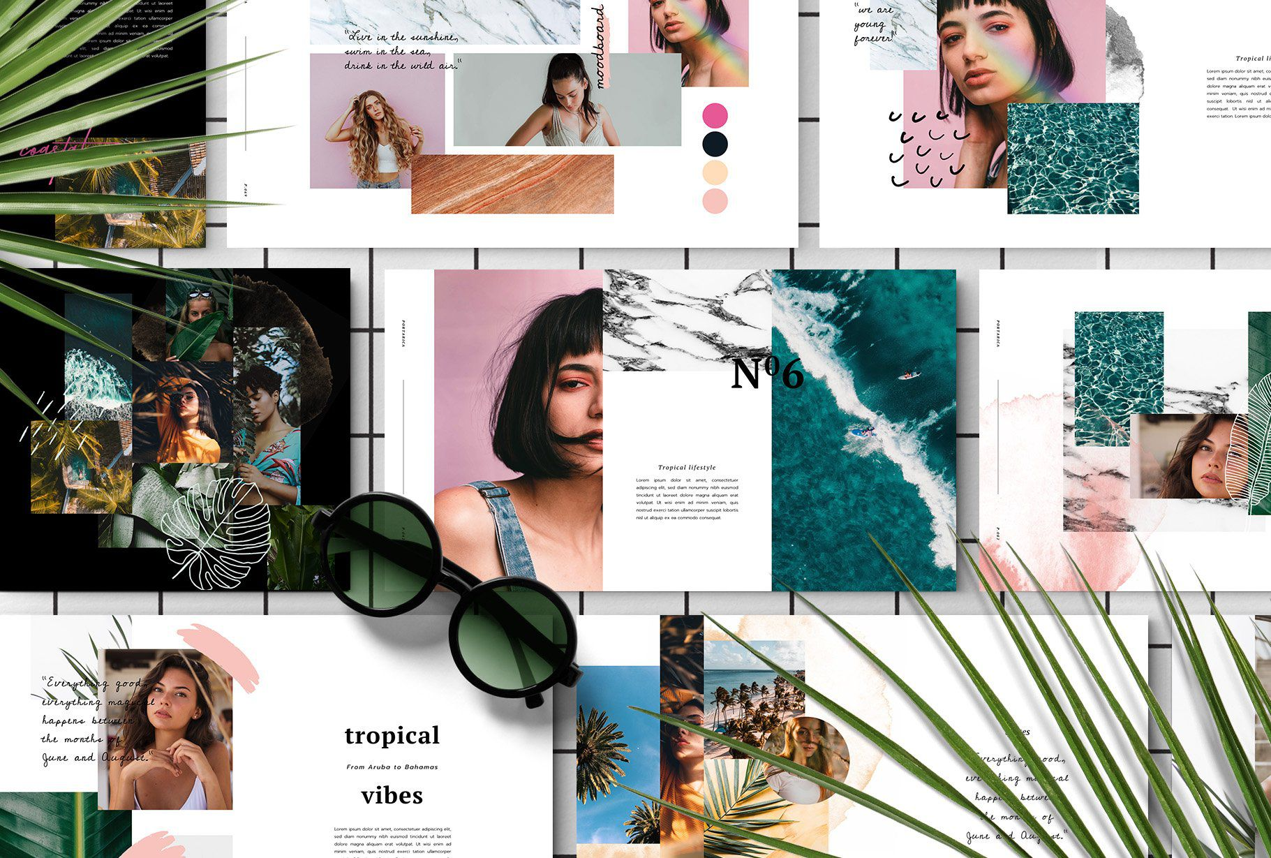 005 Best Free Photo Collage Template For Powerpoint Highest Clarity Full