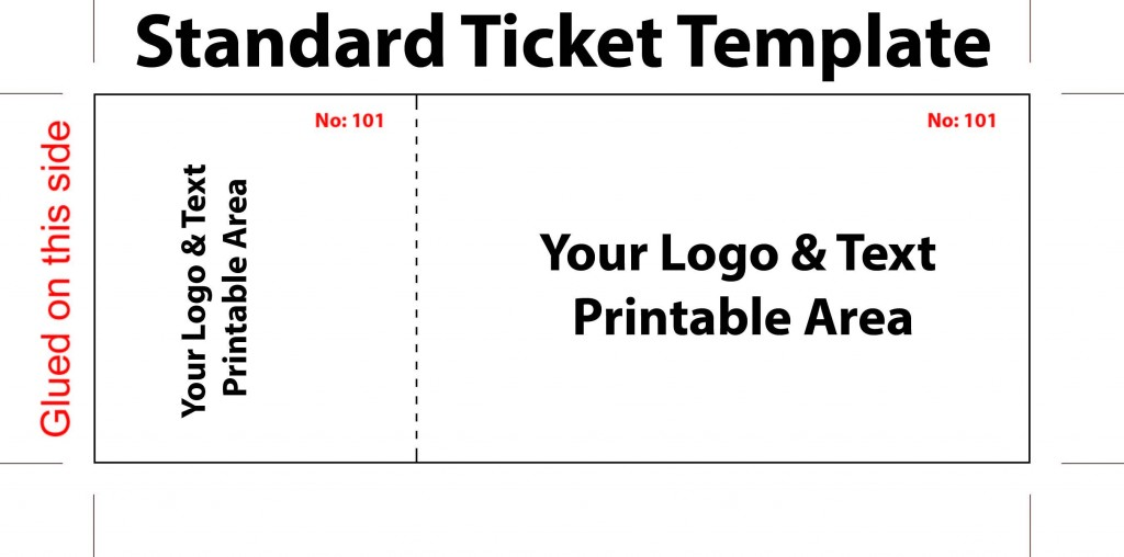 005 Best Free Printable Ticket Template Inspiration  Raffle Printing Airline For Gift ConcertLarge