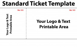005 Best Free Printable Ticket Template Inspiration  Raffle Printing Airline For Gift Concert