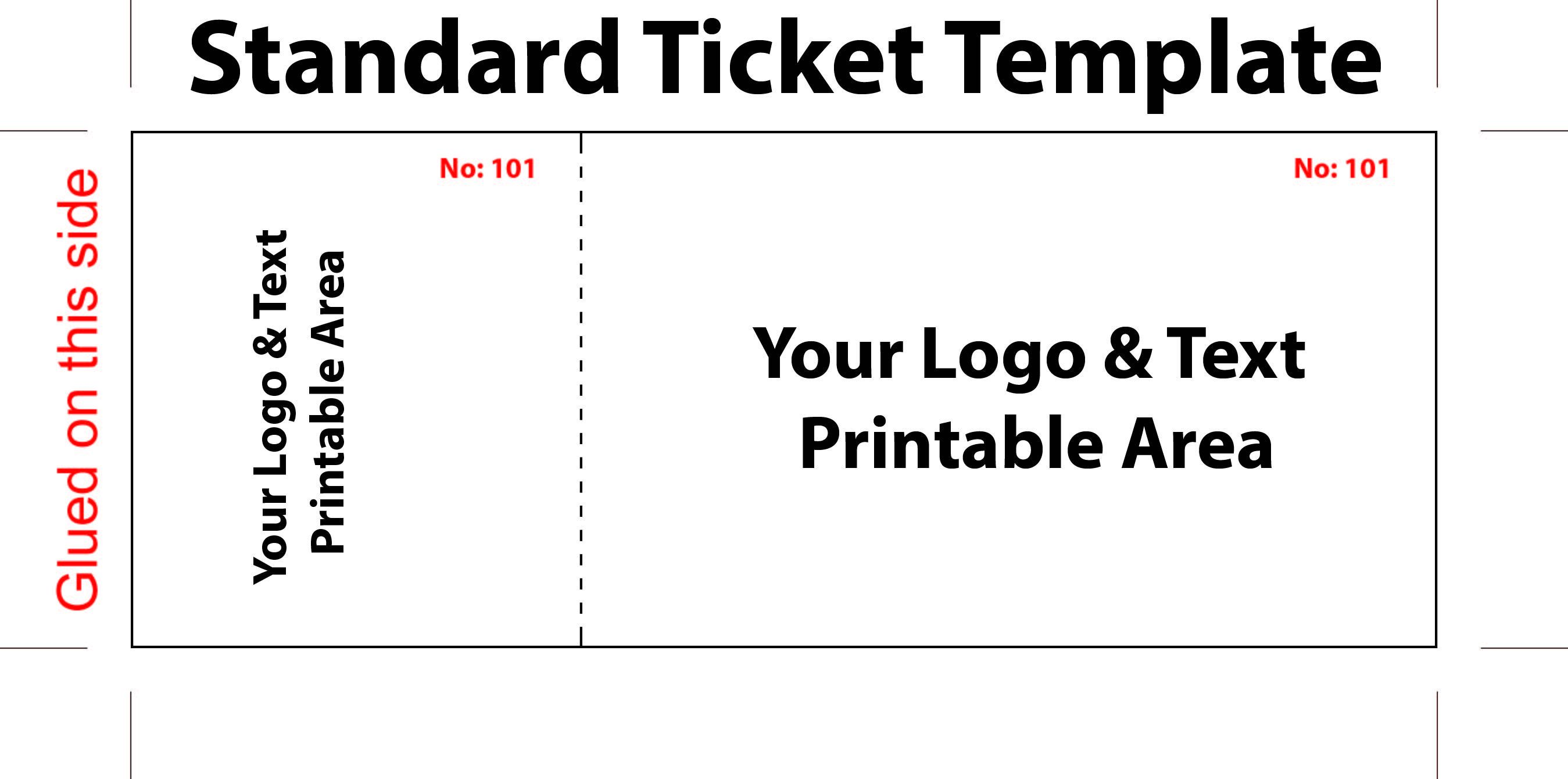 005 Best Free Printable Ticket Template Inspiration  Raffle Printing Airline For Gift ConcertFull