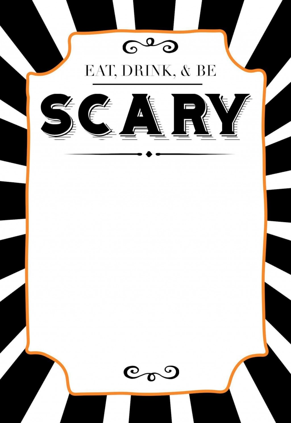 005 Best Halloween Party Invite Template Picture  Spooky Invitation Free Printable Birthday DownloadLarge