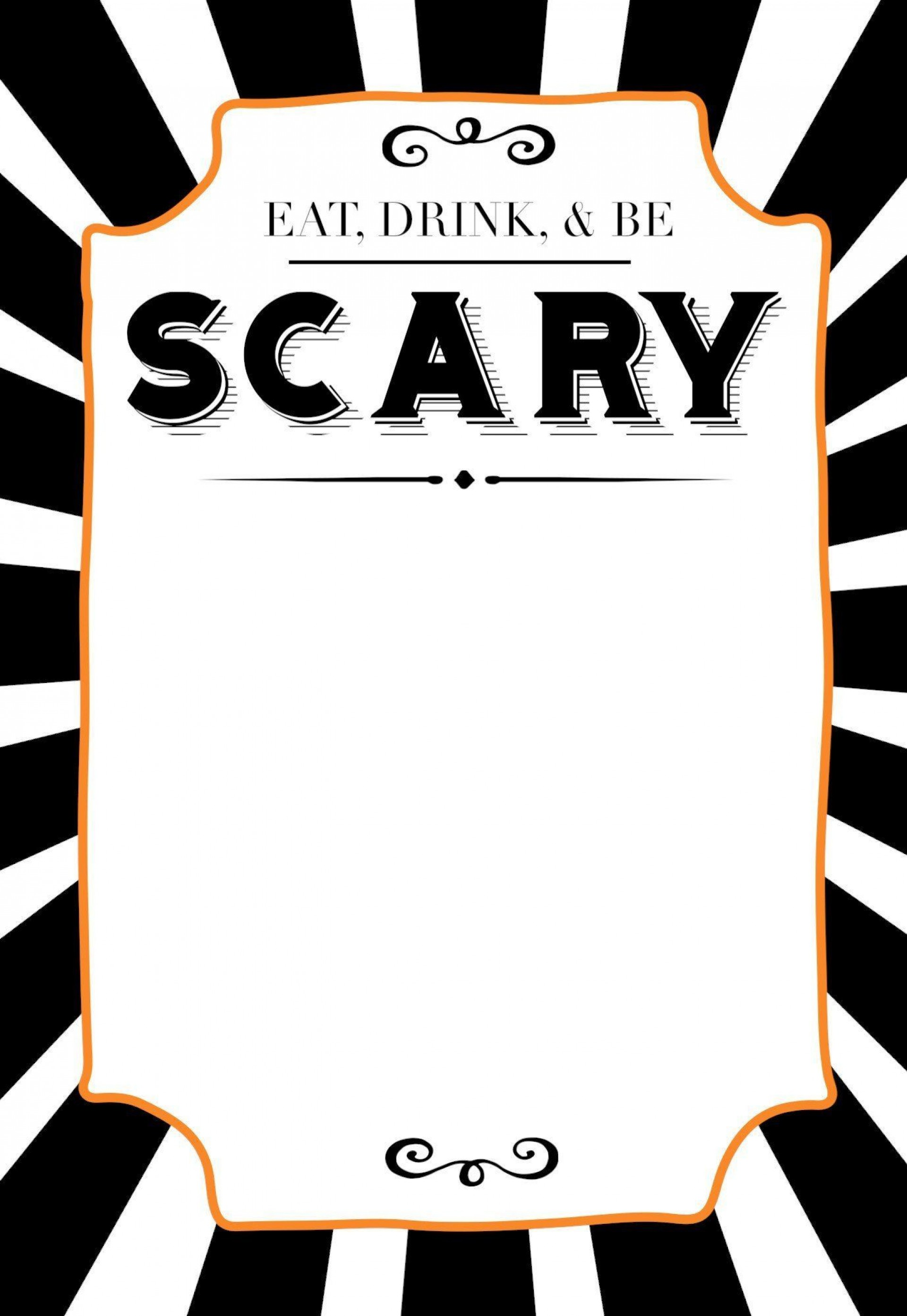 005 Best Halloween Party Invite Template Picture  Spooky Invitation Free Printable Birthday Download1920