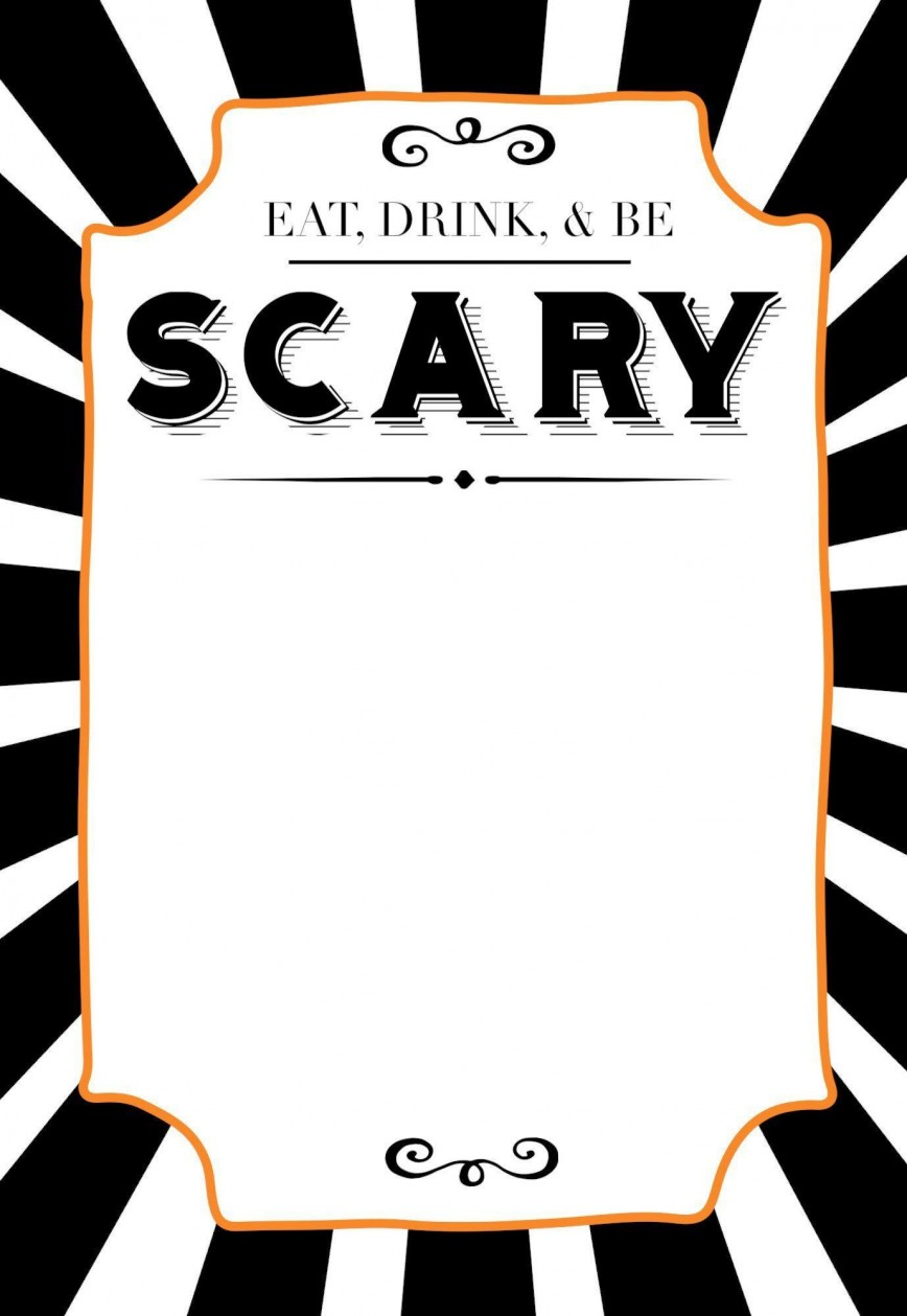 005 Best Halloween Party Invite Template Picture  Free Printable Birthday Invitation Microsoft