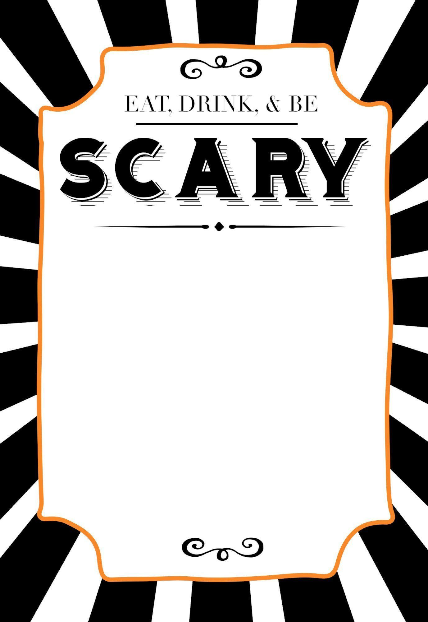 005 Best Halloween Party Invite Template Picture  Spooky Invitation Free Printable Birthday DownloadFull