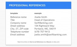 005 Best List Of Professional Reference Format Example  Sample