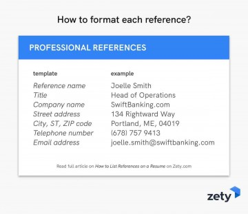 005 Best List Of Professional Reference Format Example  Template360