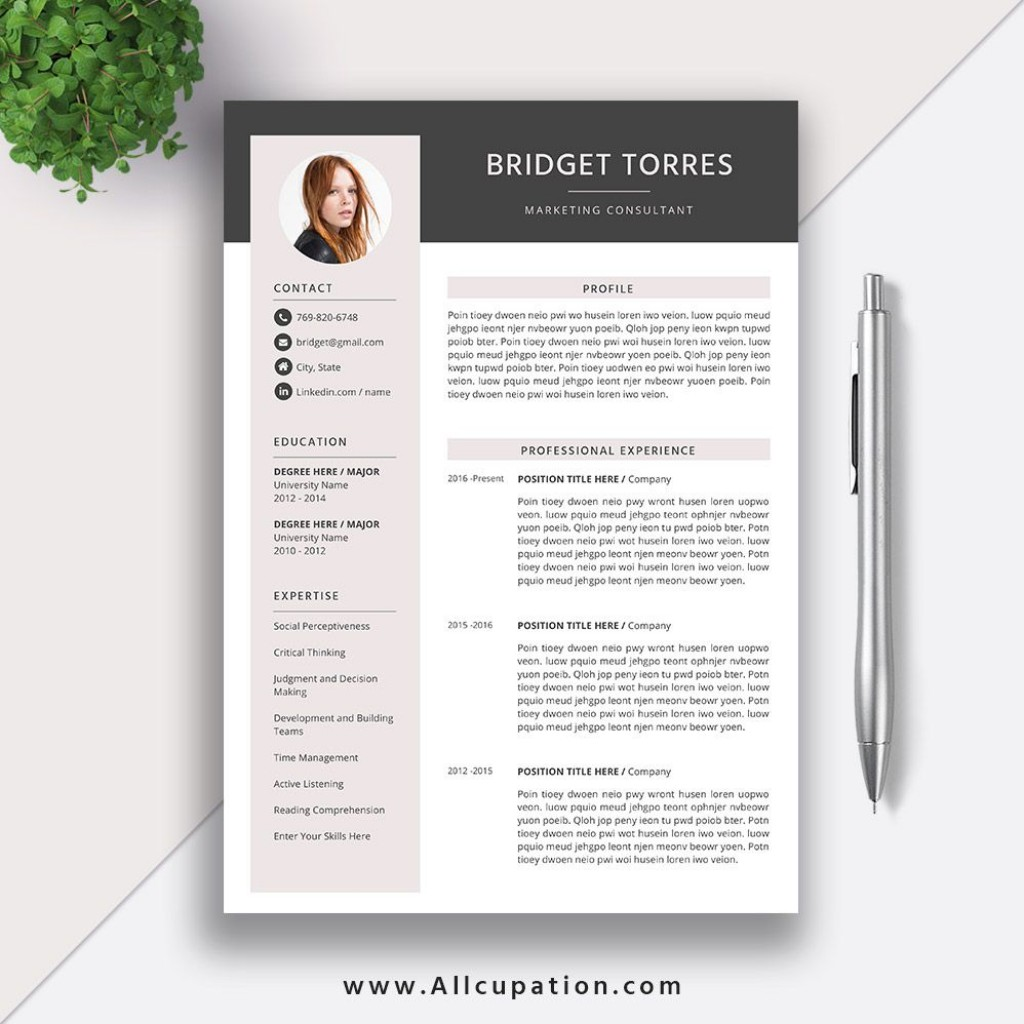 005 Best Microsoft Word Resume Template 2020 Picture  FreeLarge