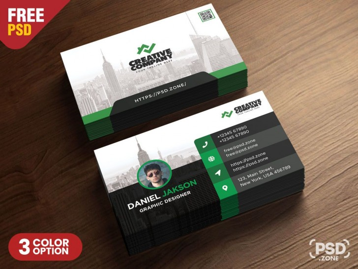 005 Best Psd Busines Card Template Design  With Bleed And Crop Mark Vistaprint Free728