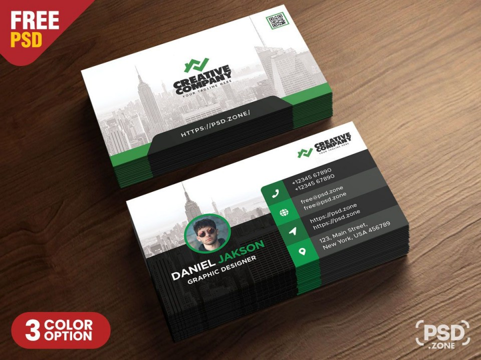 005 Best Psd Busines Card Template Design  With Bleed And Crop Mark Vistaprint Free960