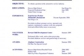 005 Best Resume Template High School Student Image  Sample First Job