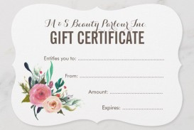 005 Best Salon Gift Certificate Template Photo