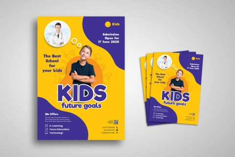 005 Best School Open House Flyer Template Highest Quality  Elementary Free Word480