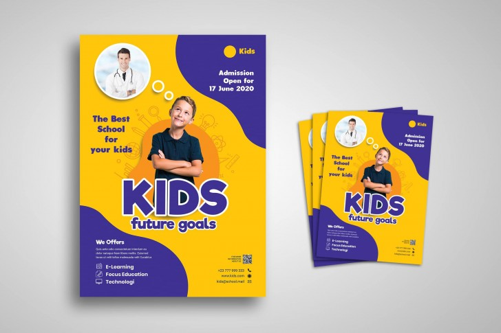 005 Best School Open House Flyer Template Highest Quality  Elementary Free Word728