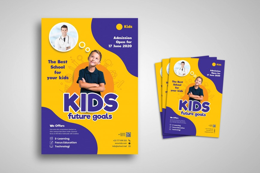 005 Best School Open House Flyer Template Highest Quality  Elementary Free Word868