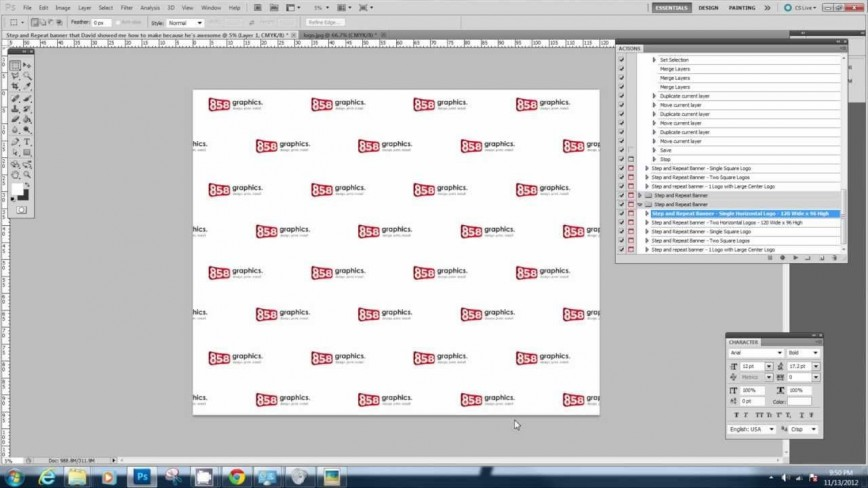 005 Best Step And Repeat Banner Template Inspiration  8x8 Photoshop