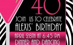 005 Breathtaking 40th Birthday Party Invite Template Free Design