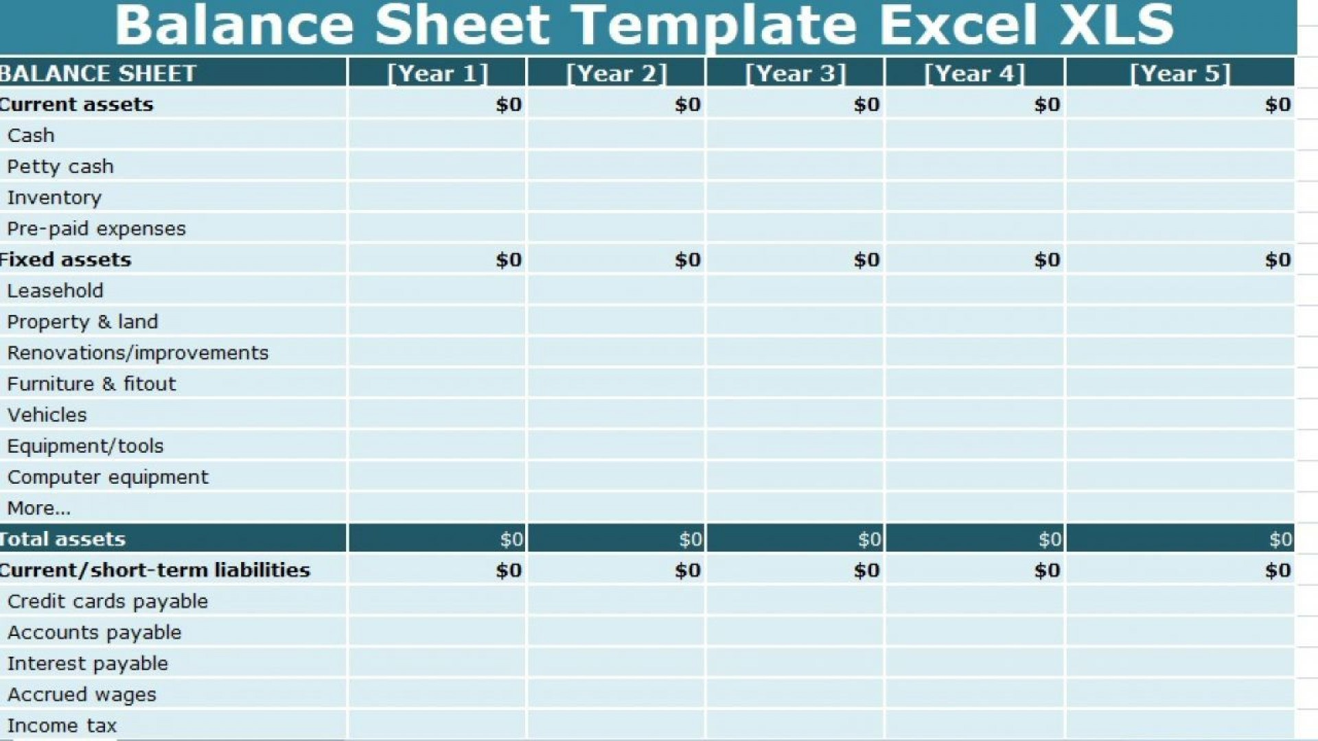 005 Breathtaking Busines Balance Sheet Template High Definition  Word Excel Small Sample1920