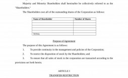 005 Breathtaking Buy Sell Agreement Llc Template Free High Definition