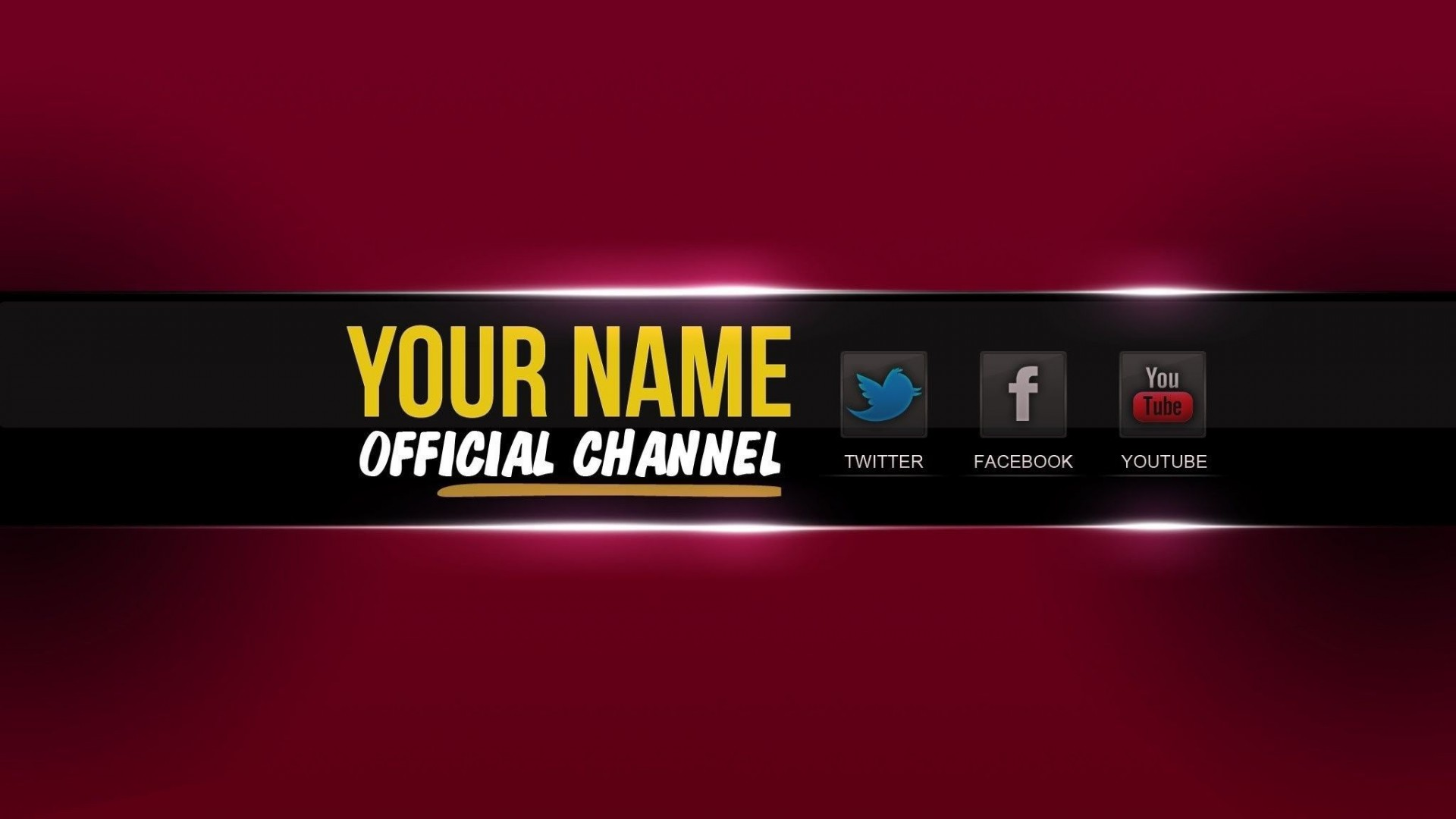 005 Breathtaking Free Channel Art Template Example 1920