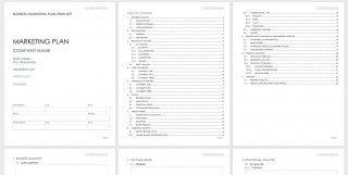005 Breathtaking Free Marketing Plan Template Concept  Hubspot Download Ppt320