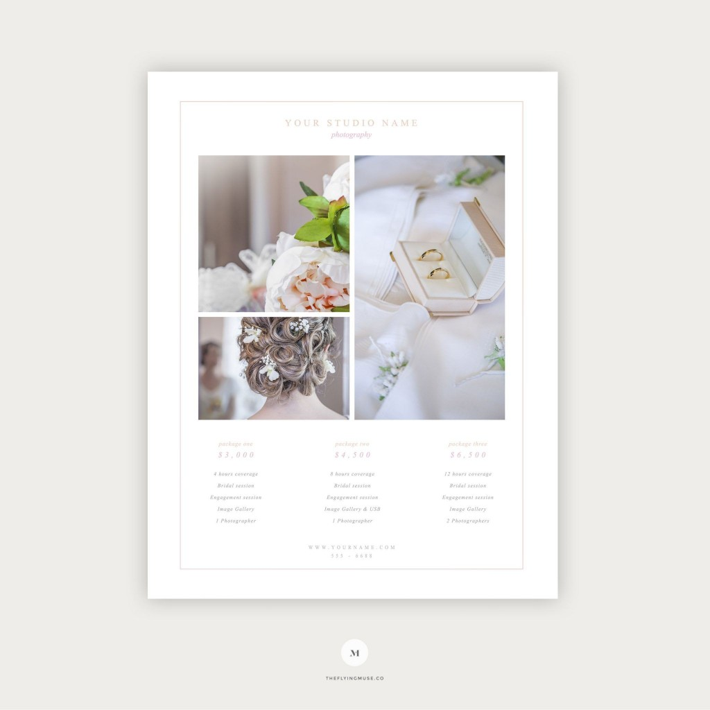 005 Breathtaking Free Photography Package Template Idea  PricingLarge