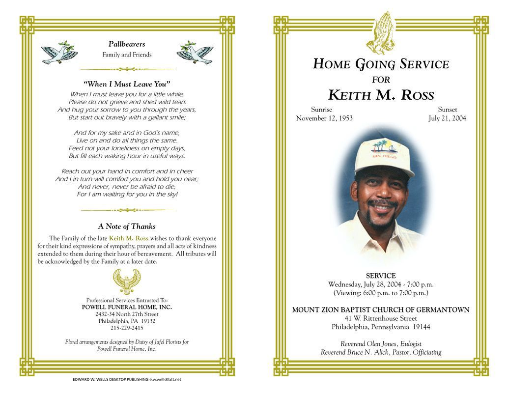 005 Breathtaking Funeral Program Template Free Design  Online Printable Download PublisherFull