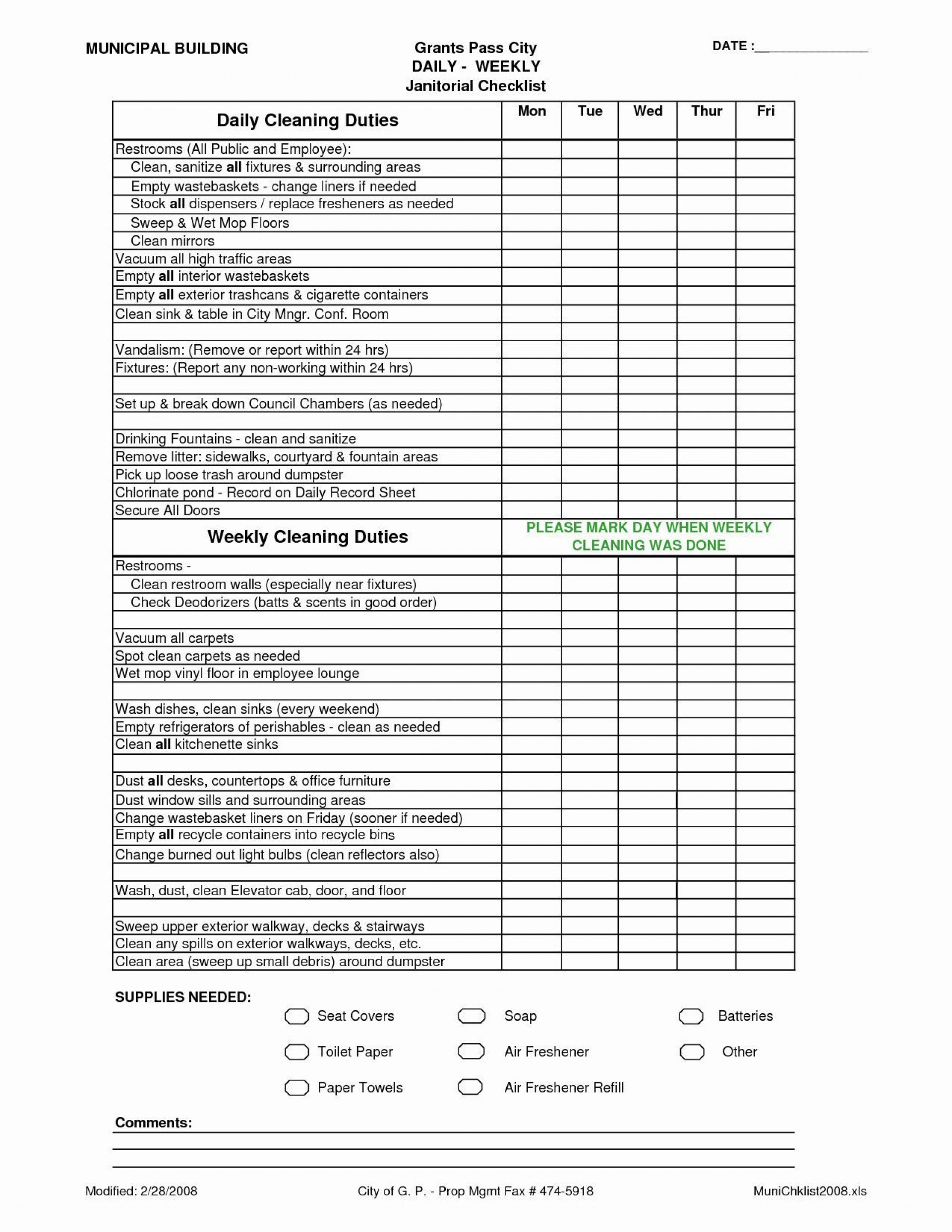 005 Breathtaking House Cleaning Schedule Template Excel Highest Clarity 1920
