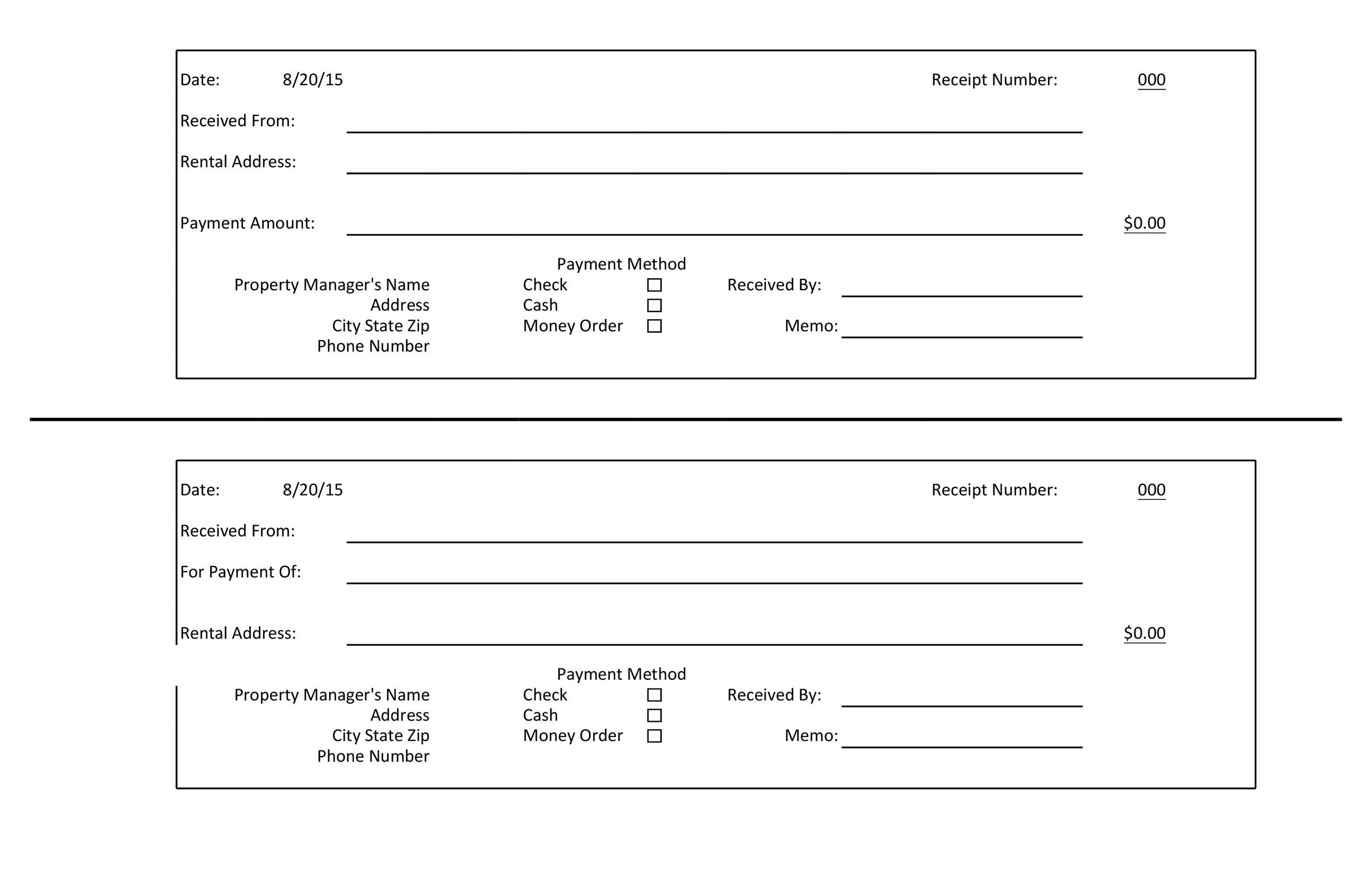 005 Breathtaking Official Receipt Template Excel Free Download Idea  CashFull