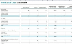 005 Breathtaking Profit Los Template Excel Idea  Simple Monthly And Statement Download