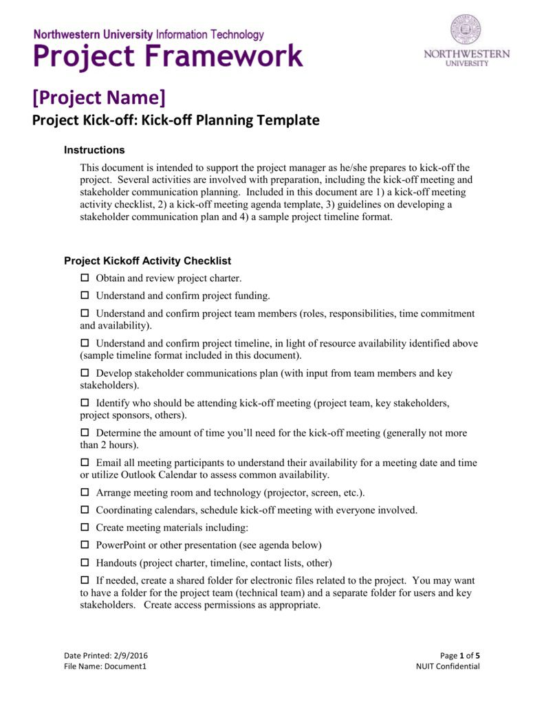 005 Breathtaking Project Kickoff Meeting Template High Definition  Management Agenda Construction Doc EmailFull