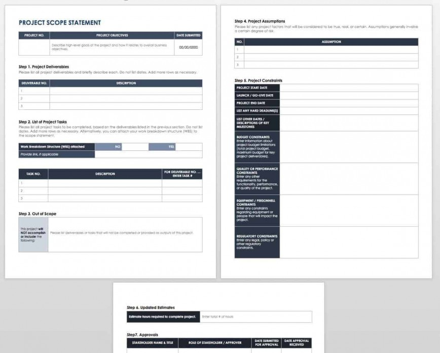 005 Breathtaking Scope Of Work Template M Word High Resolution