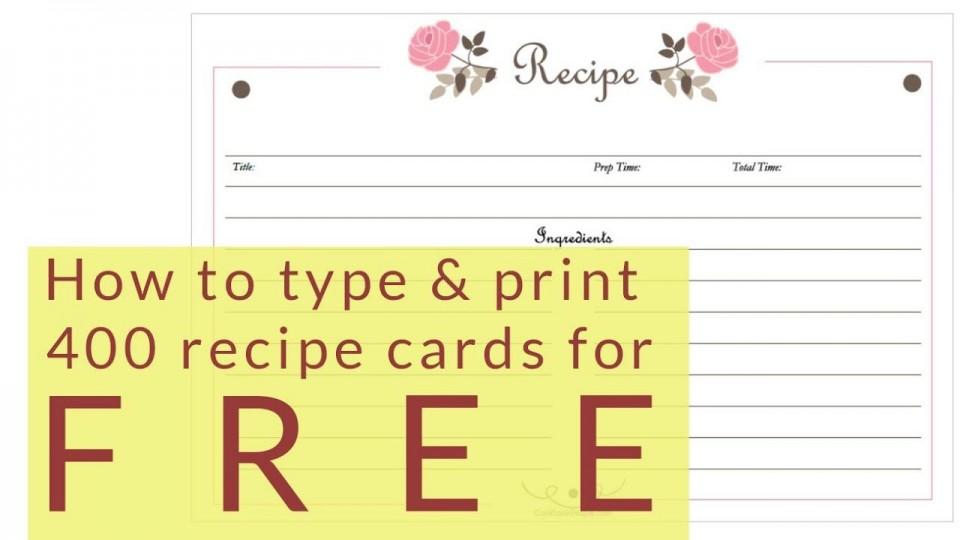 005 Dreaded 4 X 6 Recipe Card Template Microsoft Word High Definition 960