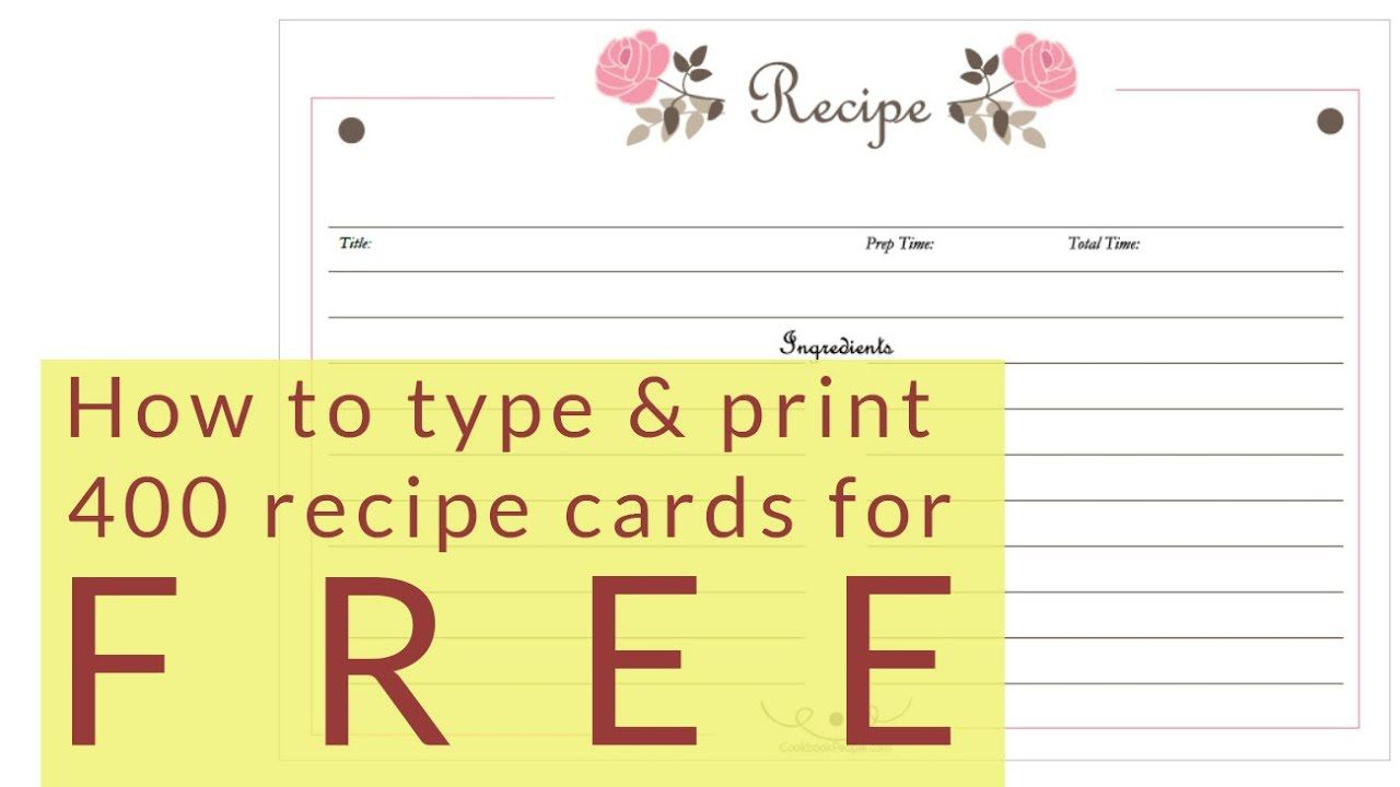 005 Dreaded 4 X 6 Recipe Card Template Microsoft Word High Definition