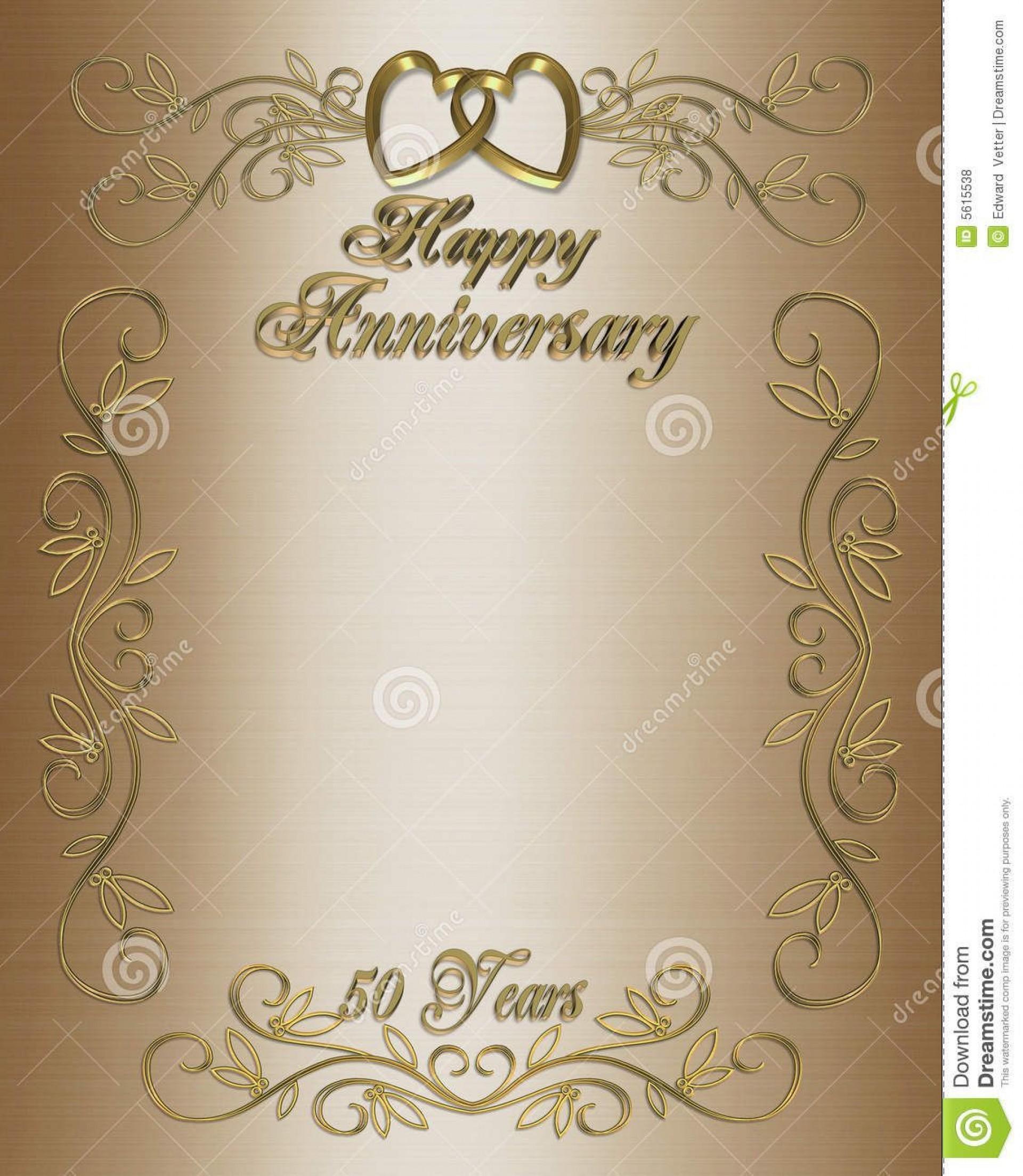 005 Dreaded 50th Wedding Anniversary Invitation Template Free High Def  Download Golden Microsoft Word1920