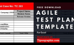 005 Dreaded Agile Test Plan Template Image  Word Example Document