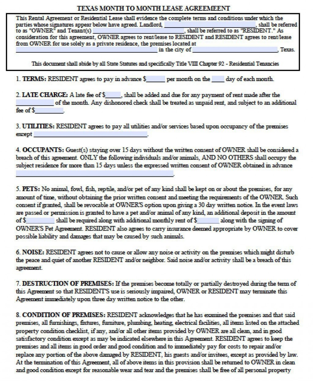 005 Dreaded Apartment Lease Agreement Form Texa Highest Quality Large