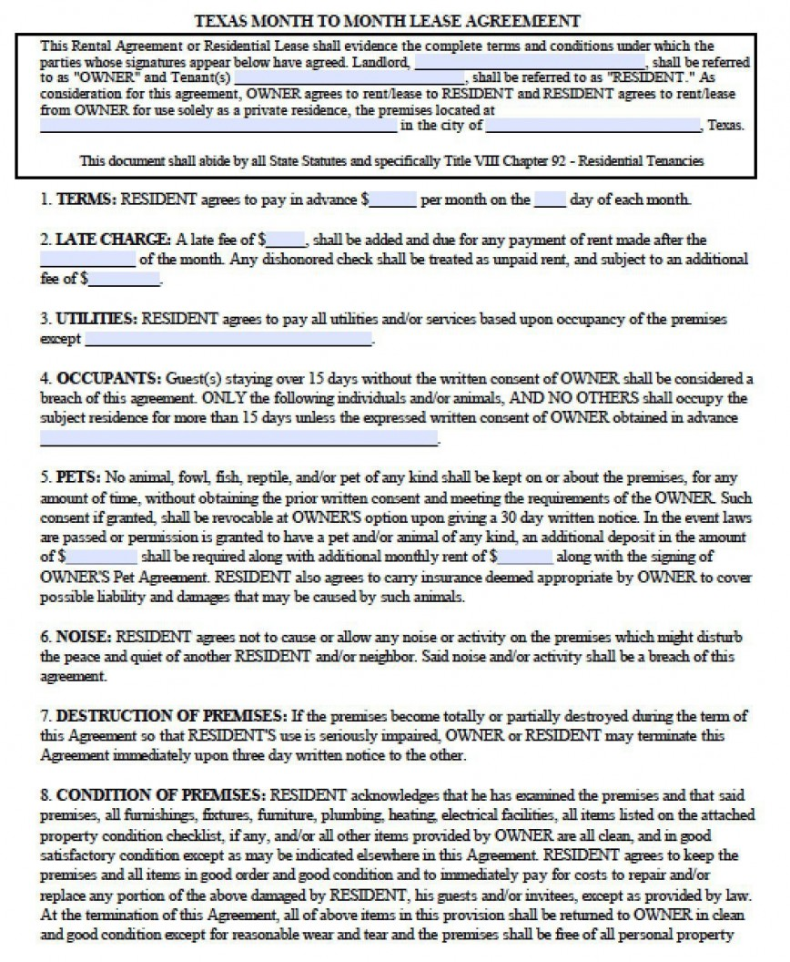 005 Dreaded Apartment Lease Agreement Form Texa Highest Quality 868