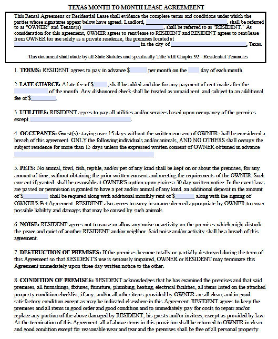 005 Dreaded Apartment Lease Agreement Form Texa Highest Quality Full